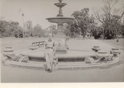 Dad in front of Fountain of Youth