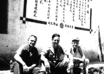 "Maj. Lester ""Gus"" Bruggemann Jr 1945 Friends"